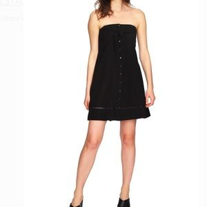 1.state strapless tie front down dress